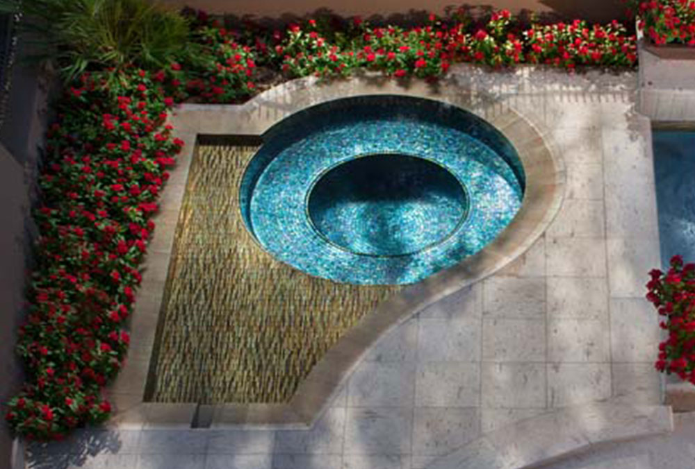 Tile-for-pool-waterline